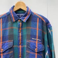 POLOSPORT/ポロスポーツ チェックネルシャツ 90年代 (USED)