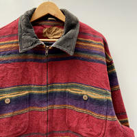 WOOLRICH/ウールリッチ ボーダーブランケットジャケット 90年代 Made In USA (USED)