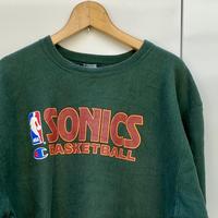 Champion NBA SONICS/チャンピオン シアトルスーパーソニックス リバースウィーブスウェット 90年代 Made In USA (USED)