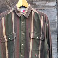 TOMMY HILFIGER/トミーヒルフィガー ストライプシャツ 90年代 (USED)