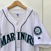 RUSSELL MLB MARINERS/ラッセル シアトルマリナーズ  ベースボールシャツ 2000年前後 Made In USA (USED)