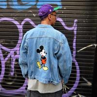 EURO DISNEY/ユーロディズニー ミッキー刺繍デニムジャケット 90年代  (USED)