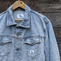 Calvin Klein Jeans/カルバンクラインジーンズ ウォッシュド Gジャン 90年代 Made In USA (USED)