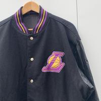 JEF HAMILTON Los Angeles LAKERS/ジェフハミルトン ロサンゼルスレイカーズ リバーシブルスタジアムジャケット 2000年前後 (USED)
