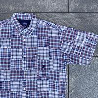 STUSSY/ステューシー パッチワークシャツ 2000年前後 (USED美品)