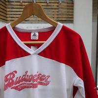 BUDWEISER/バドワイザー フットボールTシャツ 90年代  (USED)