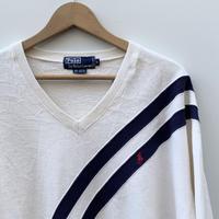 Polo Ralph Lauren/ポロラルフローレン Vネックスウェット 90年代 (USED)