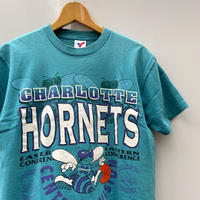 NBA HORNETS/ シャーロット ホーネッツ ロゴTシャツ 90年代 Made In USA (USED)