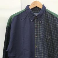 CHAPS RALPH LAUREN/チャップスラルフローレン 切り替えボタンダウンシャツ 90年代 (USED)