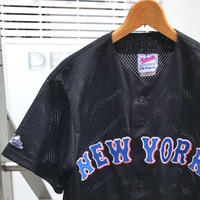 Majestic Authentic NY METS/マジェスティックオーセンティック ニューヨークメッツ ベースボールシャツ 90年代 made In USA (USED)