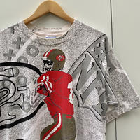 NFL San Francisco 49ers 総柄Tシャツ 93年 Made In USA (USED)