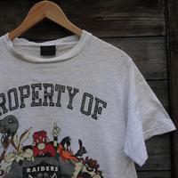 RAIDERSxLOONEYTUNES/レイダースxルーニーチューンズ Tシャツ 91年 Made In USA (USED)