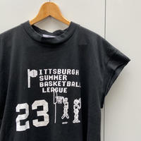 PITTSBURGH SUMMER BASKETBALL LEAGUE/ピッツバーク バスケットキャンプ ノースリーブTシャツ 90年代 Made In USA (DEADSTOCK)