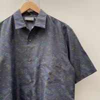 TRIUMPH/トライアンフ ペイズリー柄ポリエステルシャツ 90年代 Made In USA (USED)