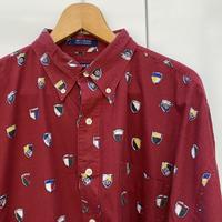 CHAPS RALPH LAUREN/チャップスラルフローレン 総柄シャツ 90年代 (USED)
