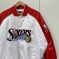 NIKE NBA 76ers/ナイキ シクサーズ サテンブルゾン 2000年前後 (USED)