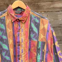 GITANO clothing/ジタノクロージング 柄ストライプシャツ 90年代 (USED)
