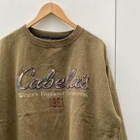Cabela's/キャベラズ ロゴスウェット 2000年代 (USED)