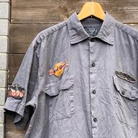 HARD ROCK CAFE/ハードロックカフェ ワッペン付き半袖シャツ 2000年代 (USED)