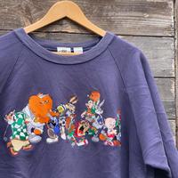 ACME CLOTHING LOONEY TUNES/アクメクロージング ルーニーチューンズ  キャラクターロゴ スウェット 90年代 (USED)
