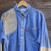 Columbia Sports Wear/コロンビア デニム切り替えシャツ 2000年前後 (USED)