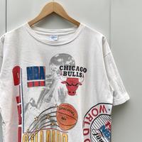 SALEM CHICAGO BULLS/セーラム NBAブルズ ワールドチャンピオンTシャツ 91年製 Made In USA (USED)