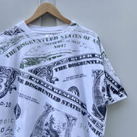 BILL CLINTON/ビルクリントン $札総柄Tシャツ 90年代 Made In USA (USED)
