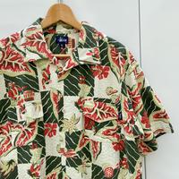 STUSSY/ステューシー コットンシアサッカーアロハシャツ 90年代 Made In USA (USED美品)