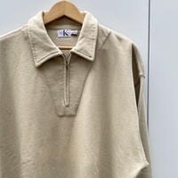 Calvin Klein/ Jeansカルバンクラインジーンズ ハーフジップ スウェット 90年代 (DEADSTOCK)