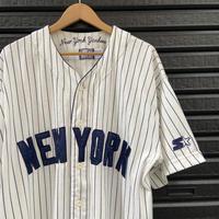 STARTER NEW YORK YANKEES/スターター ニューヨークヤンキース ベースボールシャツ 90年代 (USED)