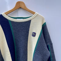 LACOSTE/ラコステ ストライプ柄セーター 90年代 (USED)