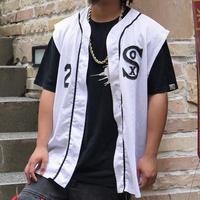 MLB CHICAGO WHITE SOX/ホワイトソックス ノースリーブベースボールシャツ 90年代 Made In USA (USED)