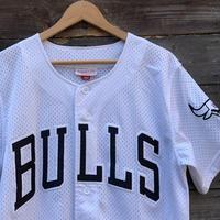 Mitchell&Ness CHICAGO BULLS/ミッチェルアンドネス シカゴブルズ ベースボールシャツ 2000年代 (USED)