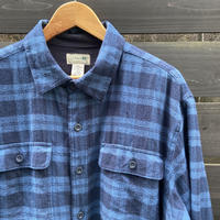 LL BEAN/エルエルビーン 裏フリース チェックネルシャツジャケット 2000年代 (USED)