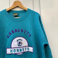 NBA CHARLOTTE HORNETS/シャーロットホーネッツ スウェット 90年代 Made In USA (USED)