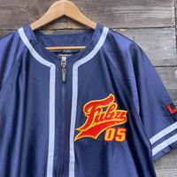 Fubu/フブ ビッグロゴサテンベースボールシャツ 90年代 (USED)