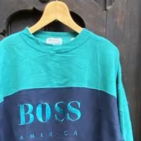 BOSS AMERICA/ボス アメリカ 切り替えロゴスウェット 90年代 (USED)