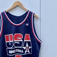 Champion USA BASKETBALL TEAM/チャンピオン アメリカ代表バスケットタンクトップ 7KEMP 90年代 Made In USA (USED)