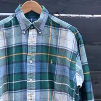 Polo Ralph Lauren/ポロラルフローレン フランネルボタンダウンシャツ 90年代 (USED)