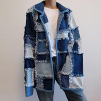 VINTAGE   DENIM PATCHWORK JACKET