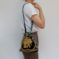 VINTAGE   embroidery MINI BAG