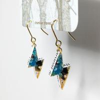 Metrocard pierced earrings メトロカードピアス/フラッシュタイプ・ゴールド 02