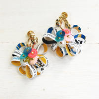 Metrocard earrings メトロカードイヤリング/フラワータイプ・ゴールド03