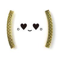 Bracket earrings (丸カッコ)のピアス・イヤリング/ダイヤ系