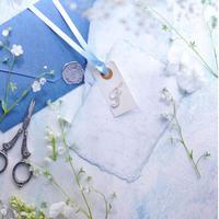 A1サイズ:サムシングブルー「花香」を感じる5種の淡い色のスタイリングボード