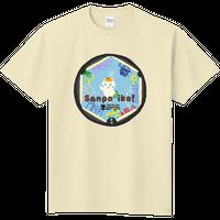 さんぽTシャツ【ちゃらぽこオリジナル】散歩×マンホール