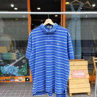 Ralph Lauren /One Point Border Polo Shirt/Blue/Used