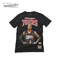 Mitchell & Ness(ミッチェル&ネス)NBA Courtside Tee/Allen Iverson アレンアイバーソン(Black)