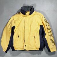 NAUTICA /Reversible Sailling Jacket/Yellow×Gray/Used