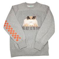 【UNISEX】Boobs Sweatshirt(グレー)